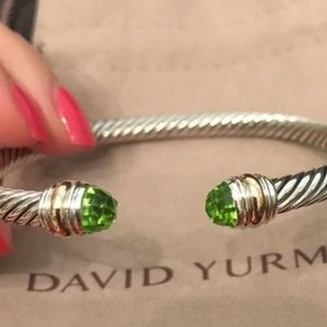 David Yurman Classic Bracelet Peridot Gold 5mm